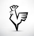 cock symbol stylized icon vector image