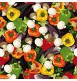 pattern of pepper eggplant and mushroom wallpaper vector image