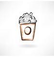 popcorn grunge icon vector image