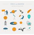 Space universe graphic design Linear icon set vector image