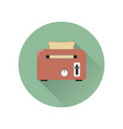 toaster with bread icon vector image