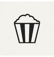 Vintage Popcorn Icon vector image