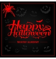 Happy Halloween creepy letters for greeting card vector image