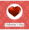 Valentines Day Romantic Greeting Card vector image vector image