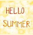 inscription hello summer on vector image
