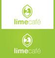 Lime cafe logo vector image