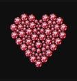 Diamond heart symbol vector image
