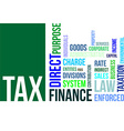 word cloud tax vector image