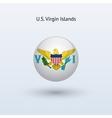 US Virgin Islands round flag vector image
