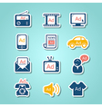 Advertisement paper cut icons vector image