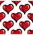 Retro red hearts seamless pattern vector image vector image