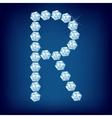 vector diamond alphabet lette r vector image