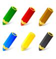 Set colored pencils vector image