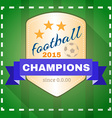 Football 2015 Champions vector image