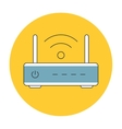 Wifi router outline icon flat vector image