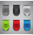 bookmark ribbons vector image
