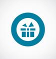 gift icon bold blue circle border vector image