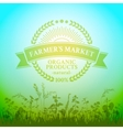 Green badge in retro style for farmers market vector image