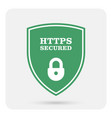 https secure website - ssl certificate shield vector image
