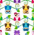 Little owls pattern vector image