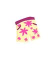 men s floral design of summer surf shorts vector image