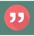 Quote icon isolated on colorful background vector image