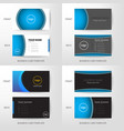 set of modern and clean business card design vector image