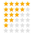 star rating evaluation system and positive revie vector image