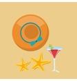 starfish beach sand icon vector image