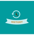 flat icon on background history lesson vector image