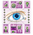 creative infographics human eye looking eye vector image