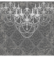 vintage chandeliers vector image vector image