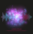 abstract sound equalizer background - shining vector image