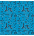 Seamless pattern of scientific icons vector image