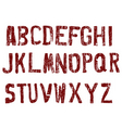 street grunge letters vector image
