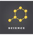 Science molecule logo vector image vector image