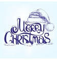 congratulation MERRY CHRISTMAS hand lettering - vector image vector image
