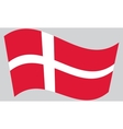 Flag of Denmark waving vector image