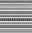 Seamless tribal borders Tribal vintage boho vector image