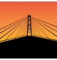 Cable-stayed bridge vector image