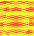 abstract orange dotted halftone background two vector image