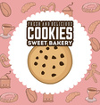 delicious cookies vector image
