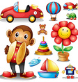 Different kind of toys vector image