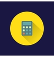 Flat calculator icon vector image