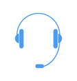 Headphones with a microphone on a white background vector image