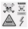 icons warning v vector image