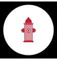 red fire hydrant simple isolated icon eps10 vector image