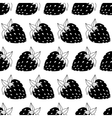 seamless of strawberries vector image