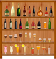 set of different drinks vector image