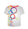T Shirt Template- Colorful rings vector image